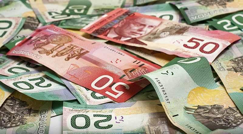 Cédulas de dólares canadenses