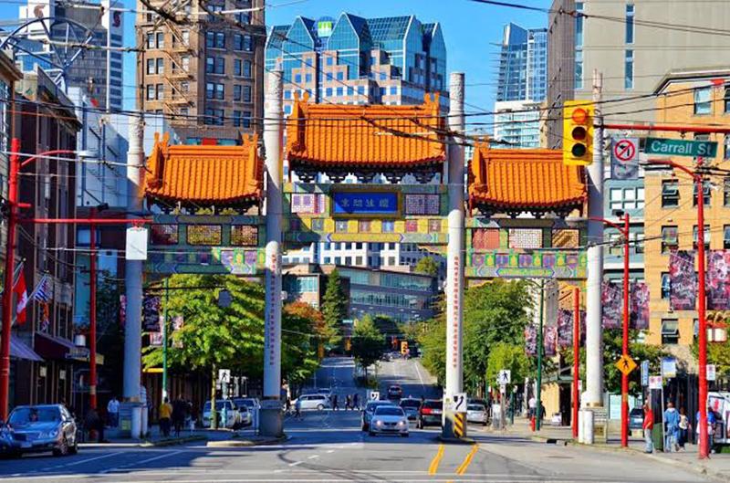 Região de Chinatown em Vancouver