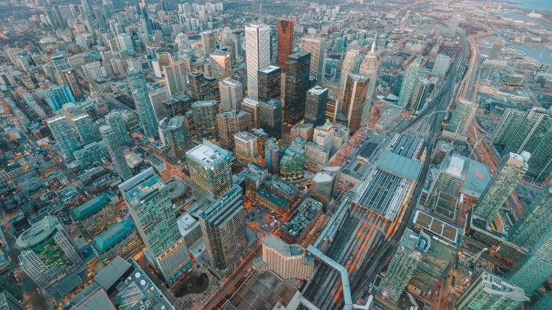 Vista da CN Tower em Toronto