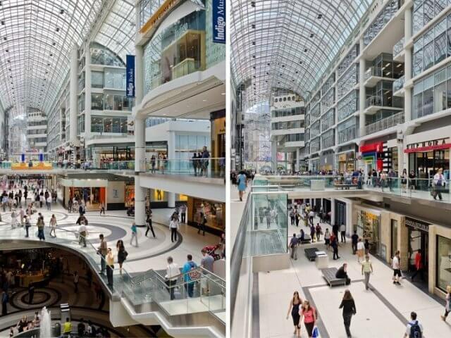 Shoppings em Toronto