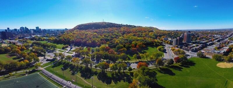 Vista panorâmica do Paque Mont Royal em Montreal