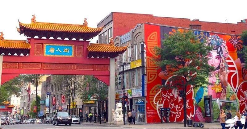 Bairro Quartier Chinois em Montreal