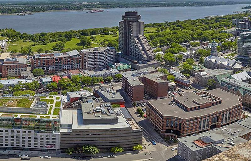 Vista do Observatoire de la Capitale em Quebec
