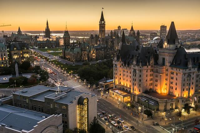 Vista da cidade de Ottawa