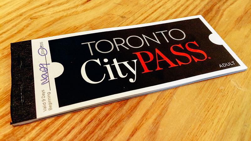Talão do CityPass em Toronto