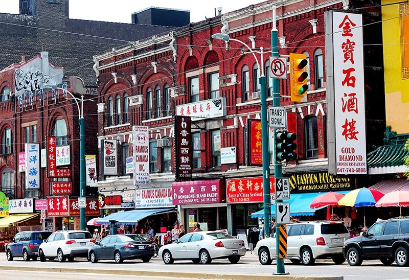 Região de Chinatown em Toronto