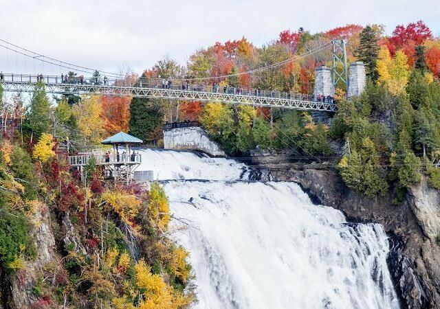 Cataratas de Montmorency em Quebec