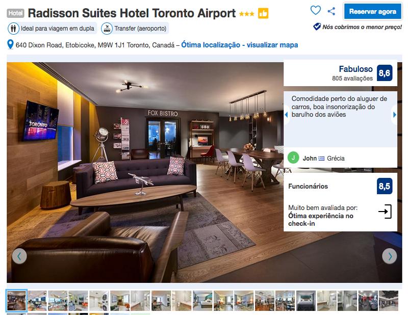 Reservas no Radisson Suites Hotel Toronto Airport