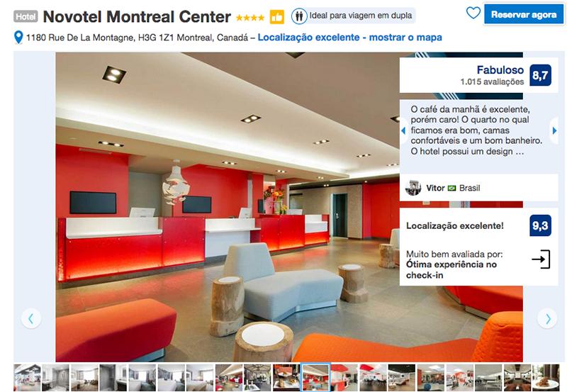 Reservas no Novotel Montreal Center