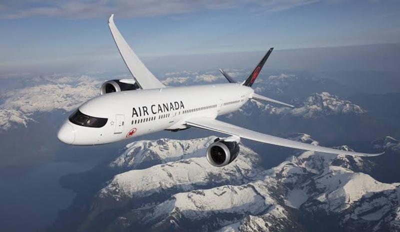 Aeronave da empresa Air Canada