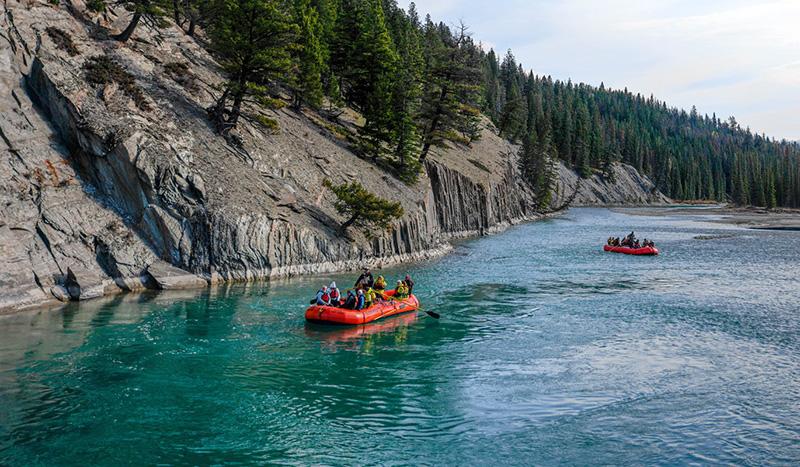 Excursão de Rafting no Parque Nacional em Jasper