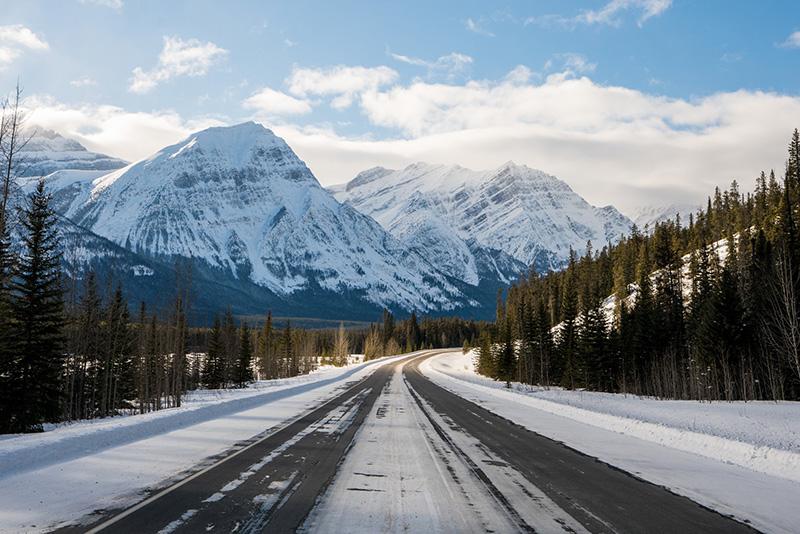 Excursão de inverno no Parque Nacional em Jasper