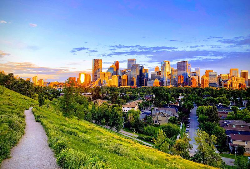 Vista de Downtown Calgary