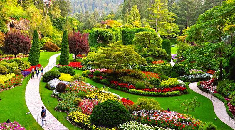 Jardins de Butchart em Victoria