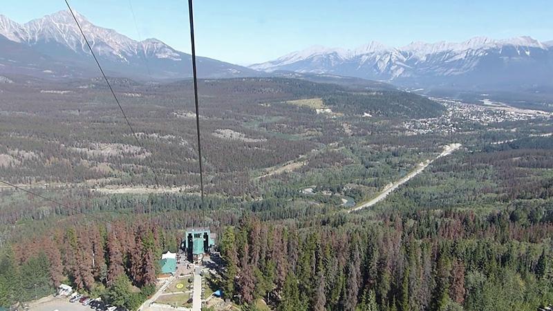 Vista do Parque Nacional de Jasper