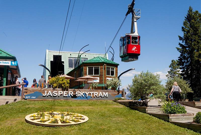 SkyTram no Parque Nacional em Jasper