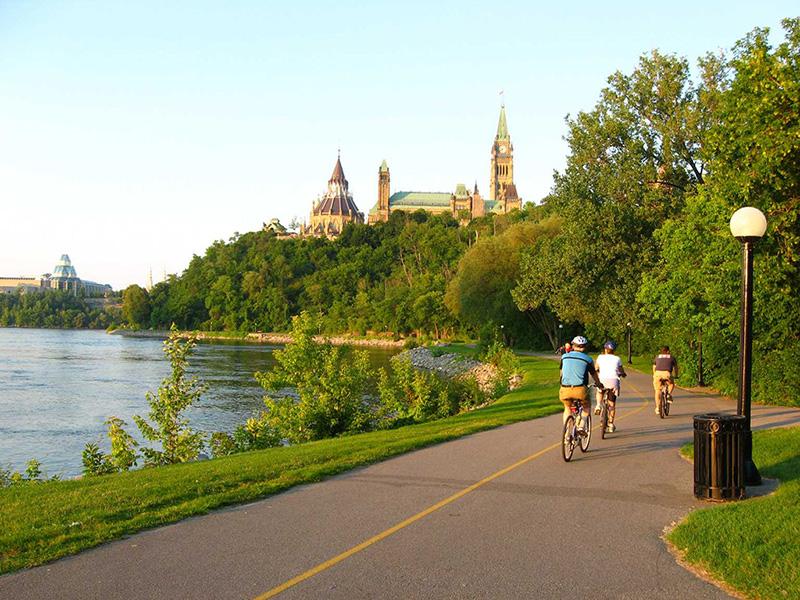 Passeio de bicicleta em Ottawa