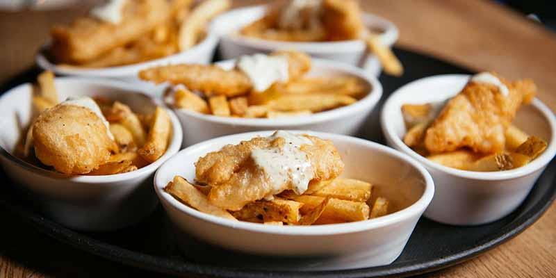 Aperitivos da excursão gastronômica em Vancouver