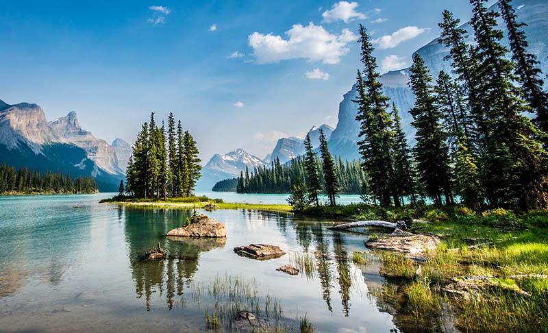 Lago Maligne em Jasper