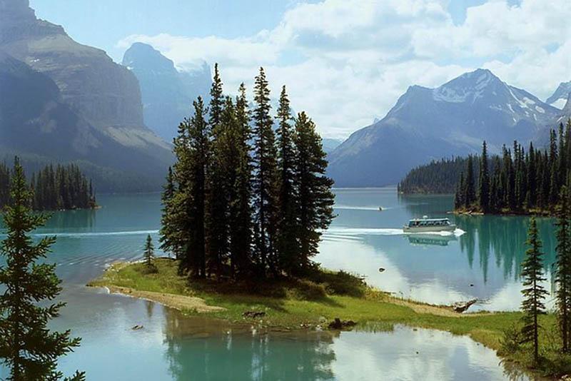 Vista do Lago Maligne em Jasper