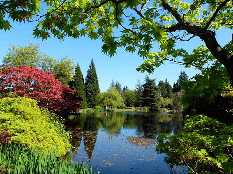 Vista do Jardim Botânico Van Dusen em Vancouver