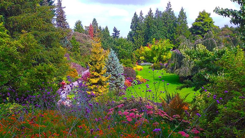 Primavera no Queen Elisabeth Park em Vancouver