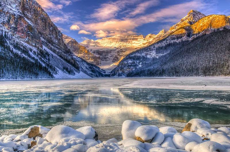 Clima de inverno em Banff no Canadá