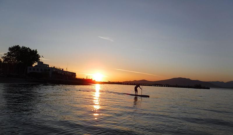 Pôr do sol em Stand Up - Vancouver