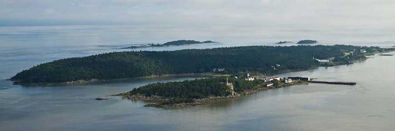 Vista do Memorial do Imigrante em Quebec