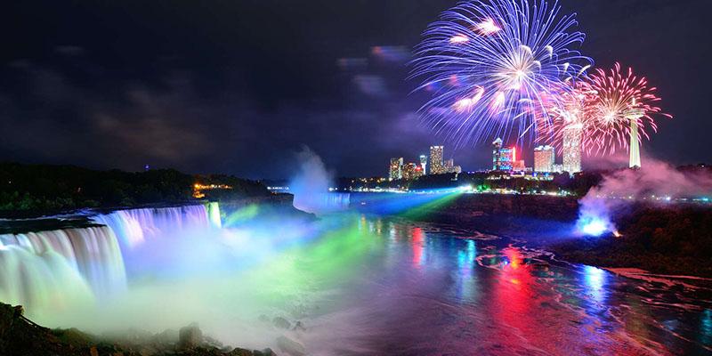 Espetáculo do Night Lights Tour em Niagara Falls