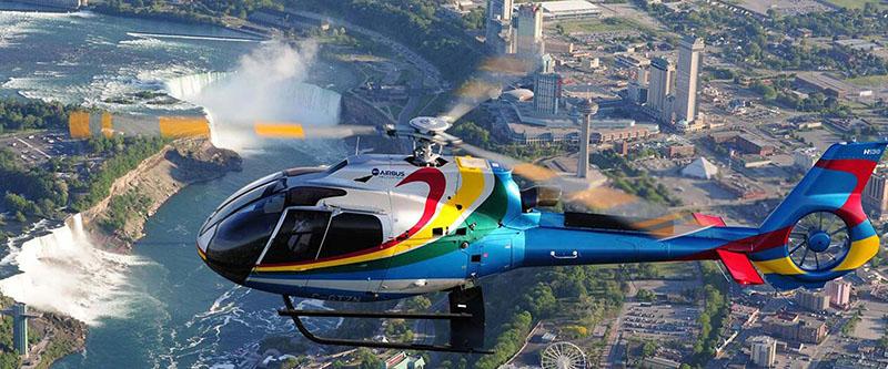 Vista do helicóptero em Niagara Falls
